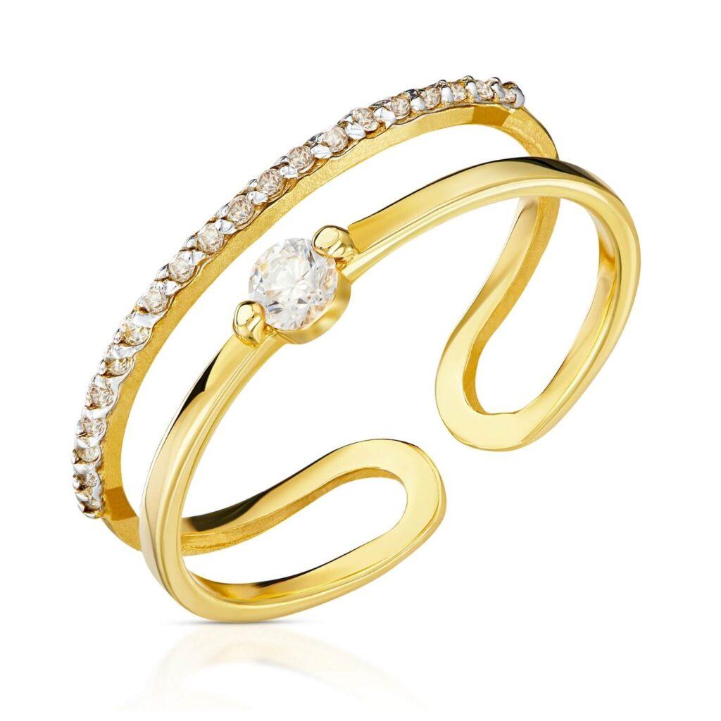 złote pierścionki próba 333